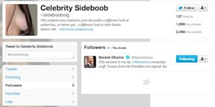 President No Longer Following Celebrity Sideboob on Twitter