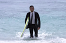Quiksilver designed a wetsuit that looks like an actual suit