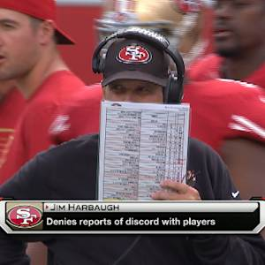 San Francisco 49ers head coach Jim Harbaugh on Sanders: 'I think it's a bunch of crap'