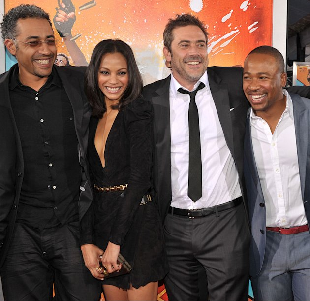 The Losers LA Premiere 2010 Sylvian White Zoe Saldana Jeffrey Dean Morgan Columbus Short