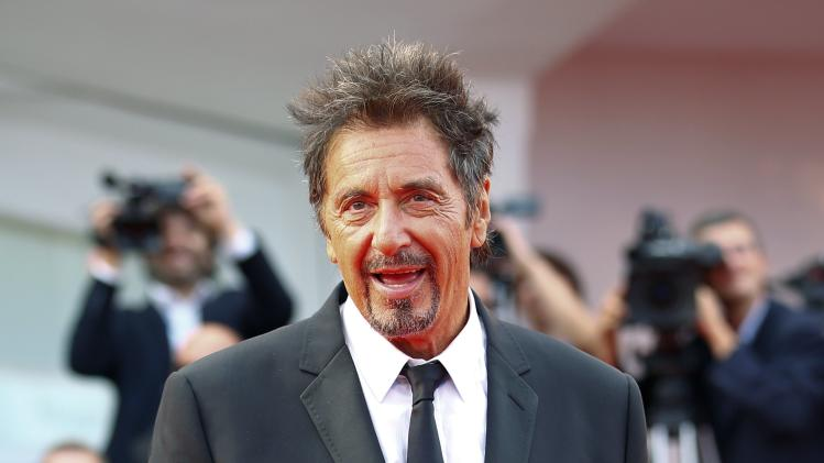 "Cast member Al Pacino attends the red carpet for the movie ""Manglehorn"" at the 71st Venice Film Festival"
