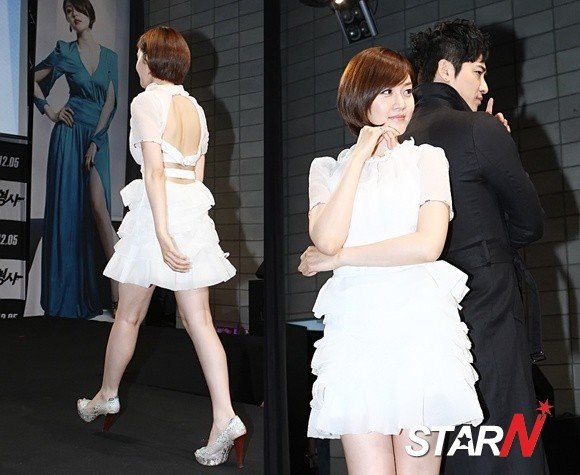Sung Yuri draws people's attention in a white flare dress
