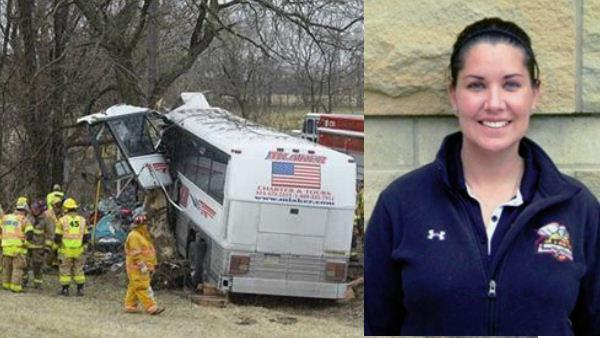 Pregnant coach, driver dead in Pa. lacrosse team's bus crash