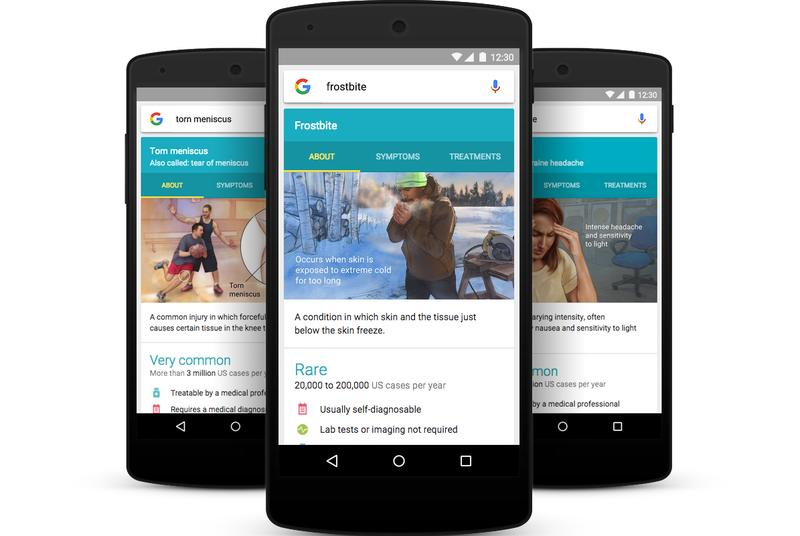 Google now helps you easily look up details for 900 illnesses