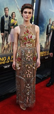 Keira Knightley is embellished in Valentino at Seeking a Friend LA Film Festival premiere