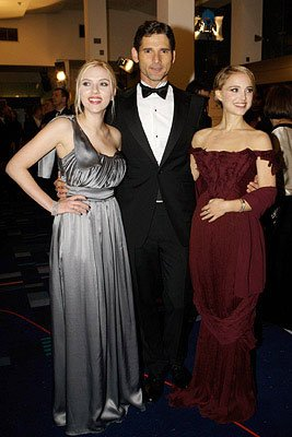 Scarlett Johansson , Eric Bana and Natalie Portman at the Royal Premiere of Columbia Pictures' The Other Boleyn Girl