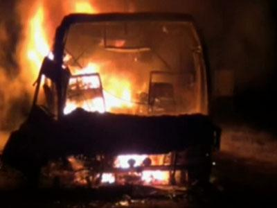Raw: India Bus Fire Kills More Than 40