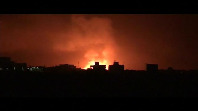 Saudi-led airstrikes target Sanaa air base