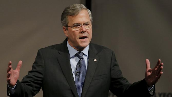 U.S. Republican presidential candidate Jeb Bush speaks during the Faith and Family Presidential Forum at Bob Jones University in Greenville
