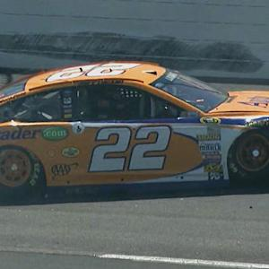 Flat tire sends Logano into the wall