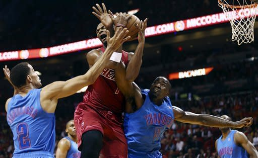 Heat win Finals rematch over Thunder, 103-97