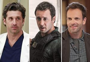 Patrick Dempsey, Alex O'Loughlin, Jonny Lee Miller | Photo Credits: Richard Cartwright/ABC; Norman Shapiro/CBS; Jeffrey Neira/CBS