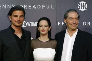 "Cast members Hartnett, Green and Dalton arrive for the world premiere of television series ""Penny Dreadful"" in New York"