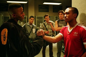 Derek Luke , Jay Hernandez , Lucas Black , Garrett Hedlund , and Lee Thompson Young in Universal Pictures' Friday Night Lights