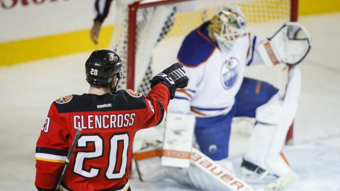 Gaudreau scores two more as Flames beat Oilers 4-1