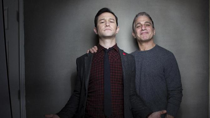 "Joseph Gordon-Levitt, left, and Tony Danza from the film ""Don Jon's Addiction,"" pose for a portrait during the 2013 Sundance Film Festival at the Fender Music Lodge, on Saturday, Jan. 19, 2013 in Park City, Utah. (Photo by Victoria Will/Invision/AP Images)"