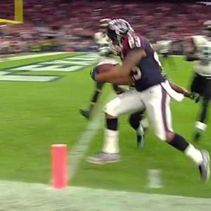 Houston Texans running back Arian Foster 10-yard touchdown catch
