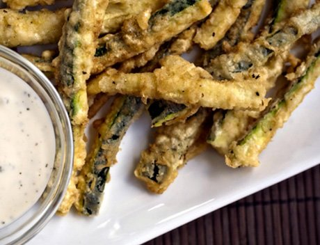 Beer Battered Zucchini Fries