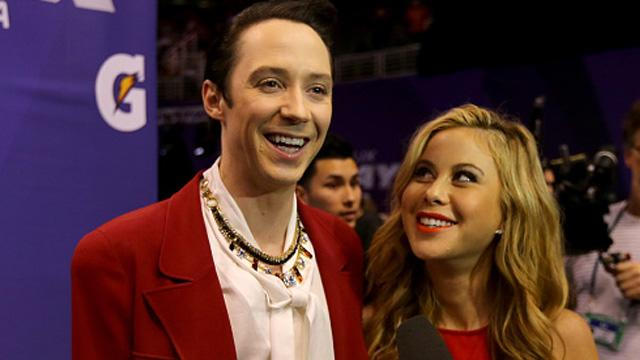 Tara Lipinski and Johnny Weir Make Super Bowl Picks Based on the Hottest Player!