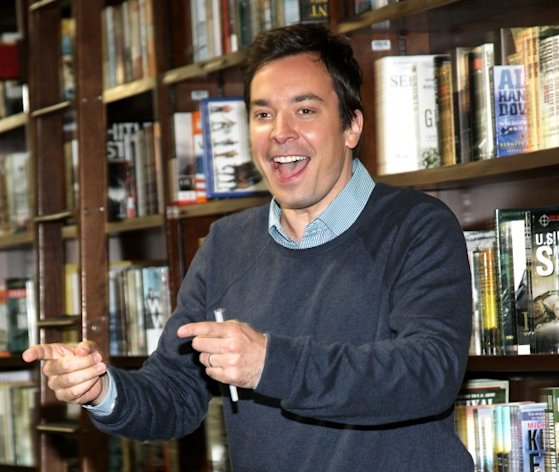 Jimmy Fallon promotes the new 'Thank You Notes 2' at Barnes & Noble Union Square in New York City on May 24, 2012 -- Getty Images
