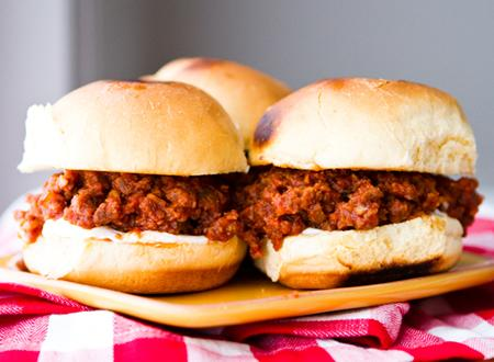 TVP Sloppy Joe Sliders