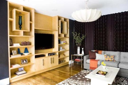 This Drab Media Room Gets a Modern-Glam Makeover