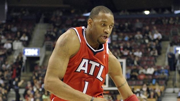 Tracy McGrady in action for Atlanta Hawks