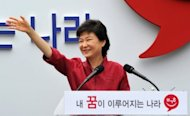 Park Geun-Hye, the daughter of former South Korean dictator Park Chung-Hee, pictured during an event to launch her bid to become president, in Seoul. Park is widely expected to secure the ruling conservative New Frontier Party's nomination at its primary in August