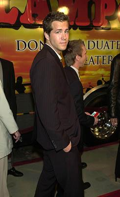 Premiere: Ryan Reynolds at the Hollywood premiere of Artisan's National Lampoon's Van Wilder - 4/1/2002