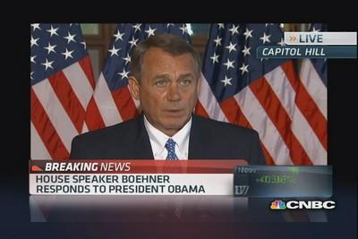 Boehner: Didn't come here to shutdown govt or default deb...