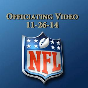 Week 12: NFL Officiating Video