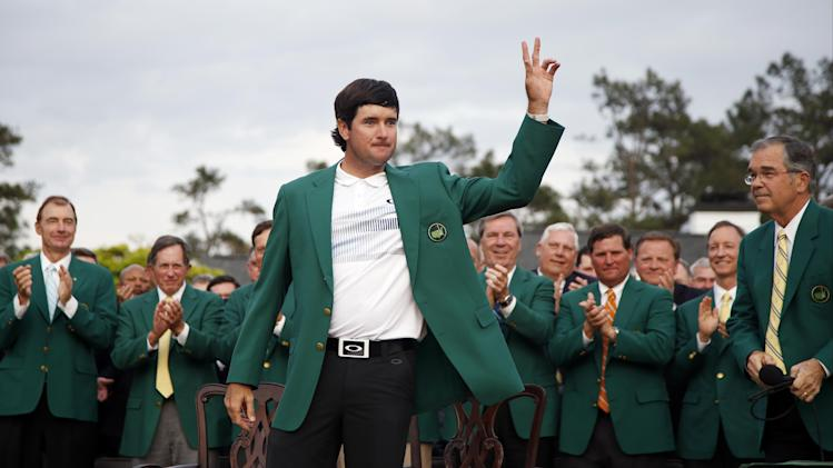 Green jacket and golden moment for Bubba Watson