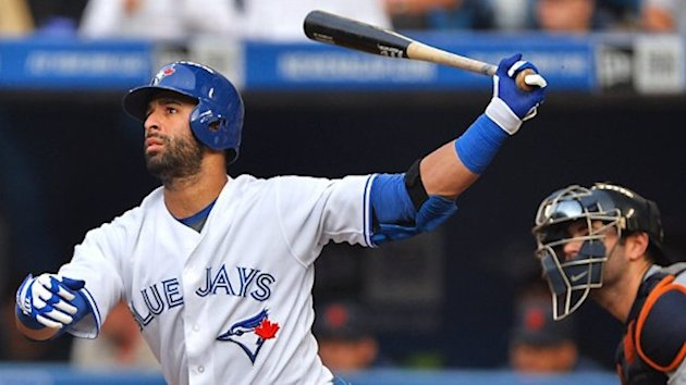 Four-time All-Star Jose Bautista has accepted a high school team's Home Run Derby challenge -- Getty Images