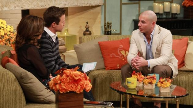 Pitbull visits the set of Access Hollywood on November 19, 2012 -- NBC