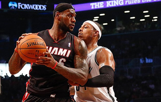 Paul Pierce sends 'message to the league' with foul on LeBron J…