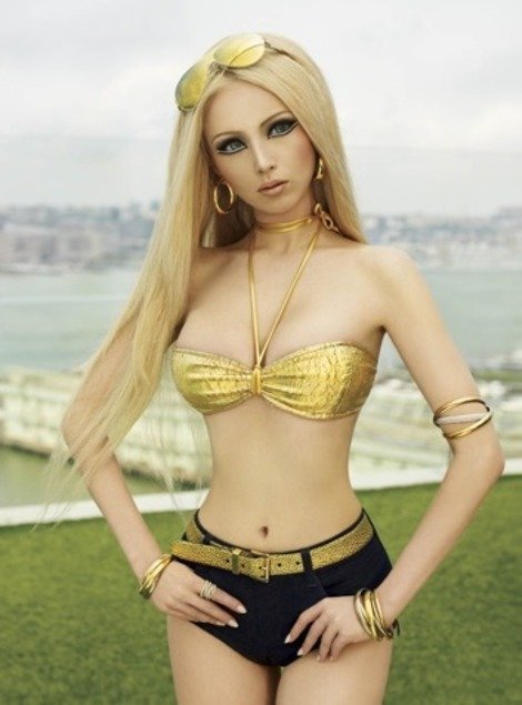Human Barbie dolls