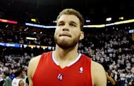 Los Angeles Clippers forward Blake Griffin, pictured in May 2012, suffered a left knee injury in a US Olympic practice scrimmage and has been flown to Los Angeles for evaluation, USA Basketball announced on Thursday