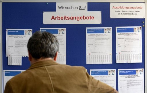 &lt;p&gt;A man looks at a job vacancies board in Berlin&#39;s Kreuzberg district. First-quarter employment across the 34-nation OECD area stood at 64.9 percent of working age people, the organisation said Thursday, or 1.6 percentage points lower than before the 2008 economic crisis.&lt;/p&gt;