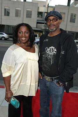 Samuel L. Jackson and wife LaTanya Jackson at the Los Angeles premiere of Yari Film Group's Resurrecting the Champ