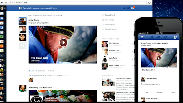 Facebook Dramatically Improves News Feed image Facebook News Feed NEW