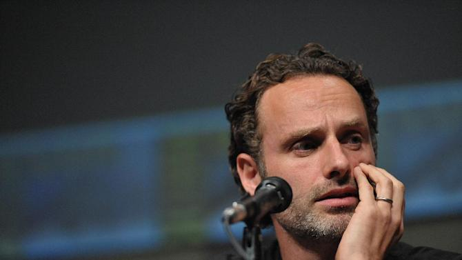 """COMMERCIAL IMAGE -  Andrew Lincoln at AMC's """"The Walking Dead"""" Autograph Signing and Panel on Friday July 13, 2012, in San Diego. (Photo by John Shearer/Invision for AMC/AP Images)"""