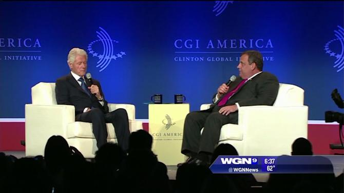 Governor Chris Christie attends Chicago CGI summit