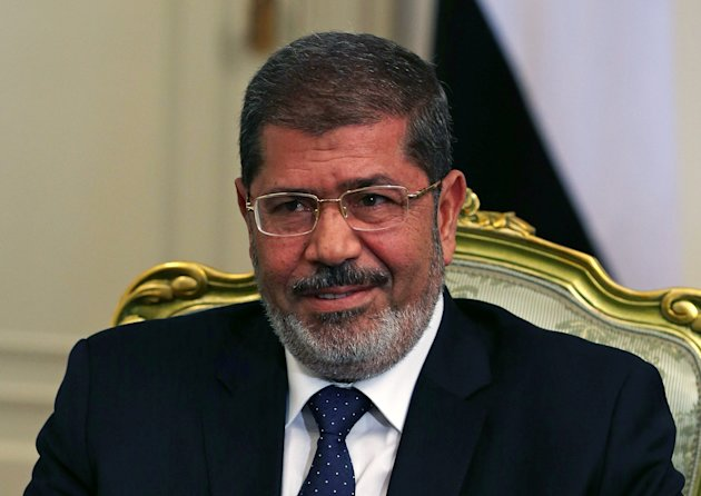 Egyptian President Mohamed Morsi meets with Defense Secretary Leon Panetta, Tuesday, July 31, 2012, at the Presidential Palace in Cairo, Egypt. Panetta is on a four day trip to the Middle-East with stops in Tunisia, Egypt, Israel and Jordan before returning to Washington. (AP Photo/Mark Wilson, Pool)