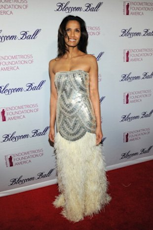 Padma Lakshmi attends the Endometriosis Foundation of America's 4th annual Blossom Ball at The New York Public Library on March 15, 2012 in New York City. (Photo: Larry Busacca/Getty Images)