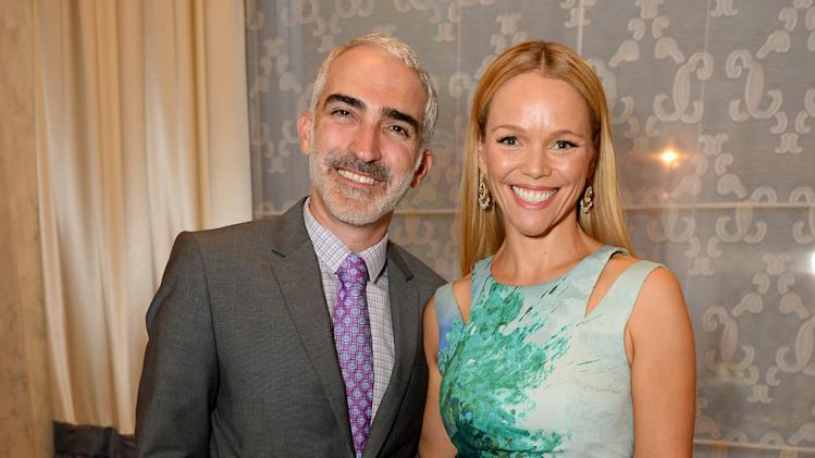 EXCLUSIVE - Patrick Fischler, left, and Lauren Bowles attend the 2014 Television Academy Hall of Fame on Tuesday, March 11, 2014, at the Beverly Wilshire in Beverly Hills, Calif. (Photo by Jordan Strauss/Invision for the Television Academy/AP Images)