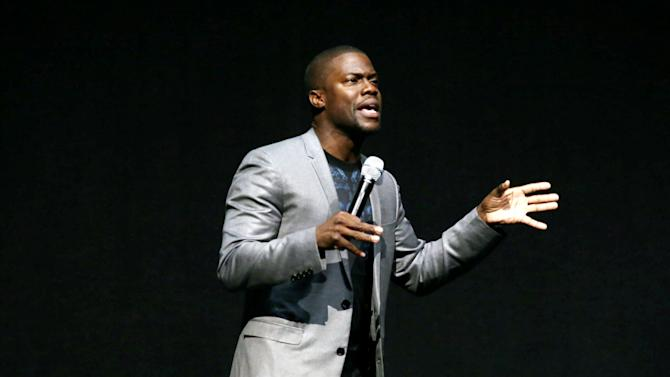 "Kevin Hart, cast member in the upcoming film ""Let Me Explain"" at Lionsgate Presentation at 2013 CinemaCon, on Thursday, April, 18th, 2013 in Las Vegas. (Photo by Eric Charbonneau/Invision for Lionsgate/AP Images)"