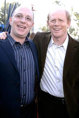 Akiva Goldsman and Ron Howard at the LA premiere of Universal's Cinderella Man