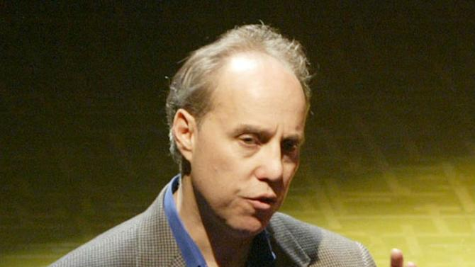 "FILE-- In this photo from Tuesday, April 13, 2004, Broadway producer Ben Sprecher speaks during a press conference in New York. Sprecher latest production, the psychological thriller ""Rebecca"" collapsed this week and launched a FBI fraud investigation into the circumstances.  (AP Photo/Mary Altaffer, File)"