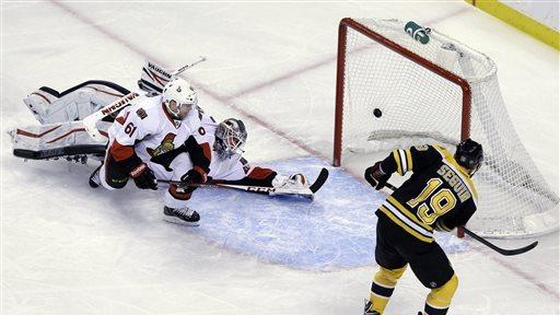 Horton lifts Bruins to 3-2 win over Senators