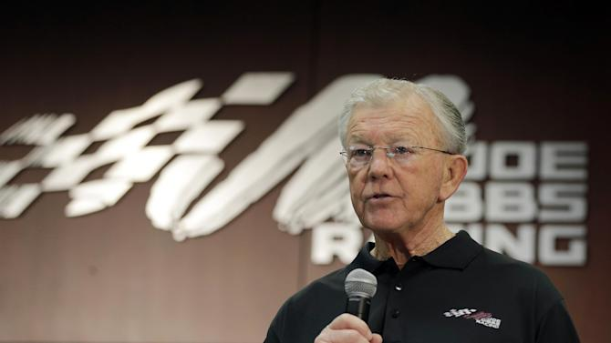 Team owner Joe Gibbs speaks to the media during a news conference at Joe Gibbs Racing in Huntersville, N.C., Thursday, Jan. 24, 2013, as part of the NASCAR Sprint Cup Media Tour. (AP Photo/Chuck Burton)